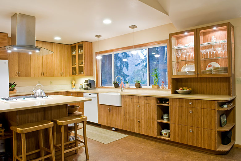 Bamboo Kitchen Cabinet Client Review Beech Tree Woodworks Custom Cabinets